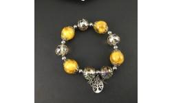Bracelet Pétales de rose jaune