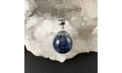 Pendentif kyanite bleue 20mm