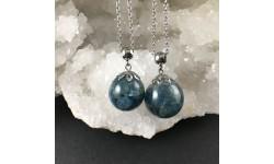 Pendentif kyanite bleu canard
