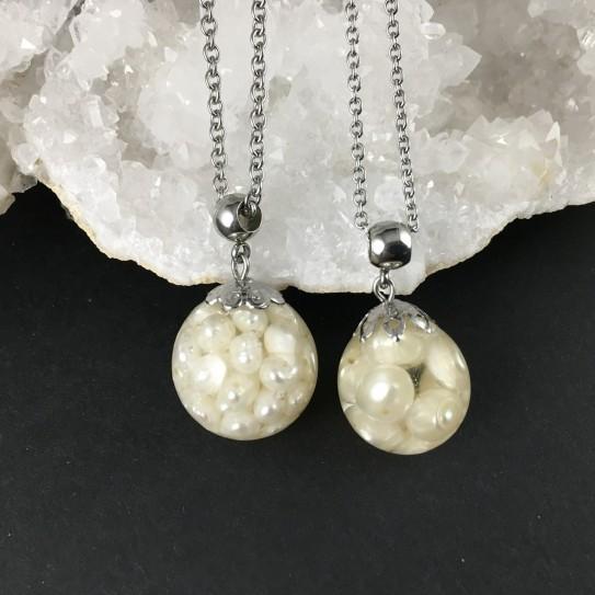 Pendentif perles d'eau douce