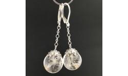 Boucles d'oreilles pissenlit 14mm pendules