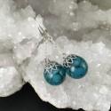 Boucles d'oreilles turquoise bleue