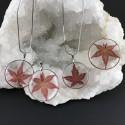 Pendentif feuille d'érable japonais sur collier acier ou gold filled